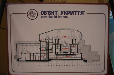 Cross-section of unit 4 of the Chernobyl' Nuclear Power Plant